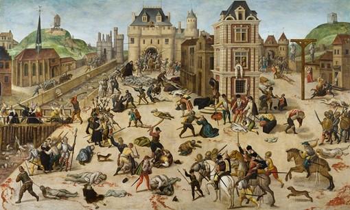 نقاشی فرنسوا دوبویس (François Dubois 1529 – 1584) از کشتار سنبارتلِمی